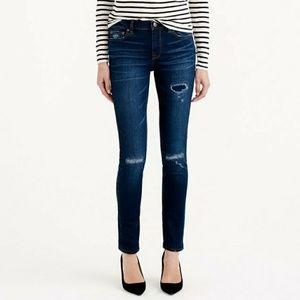 J. Crew Reid Distressed Jeans Size 27P